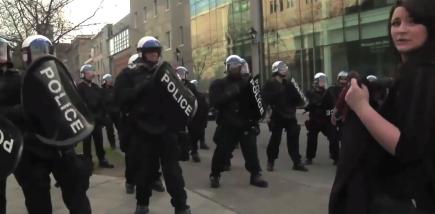 Montréal riot line May 1st