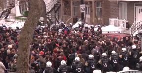 "Anti police brutality demonstration ""Kettled after 10 minutes"