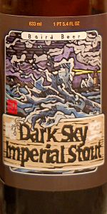 Pick of the Day: Baird Beer Dark Sky Imperial Stout